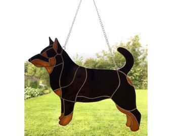Stained glass Lancashire Heeler Dog Sun-catcher