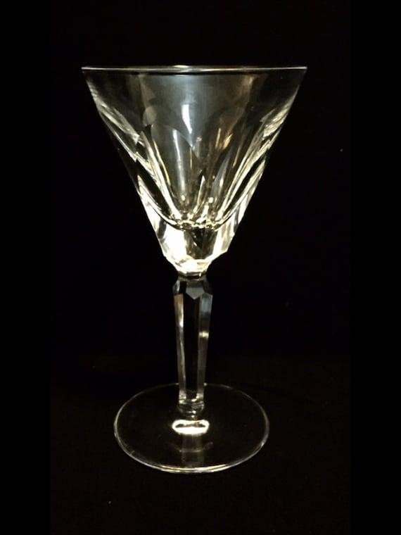 "FREE SHIPPING-Elegant-Waterford-Cut Crystal-Sheila-Cut Panels-Stemmed-6 1/2""-Claret Wine Glass-Old Hallmark"