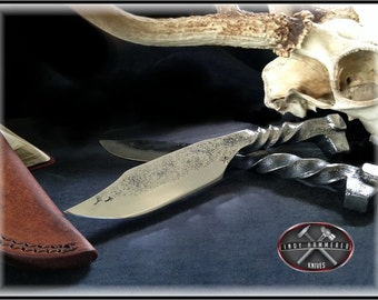 Rail Road Spike Knife by Indy Hammered Knives