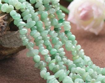 Natural Green Aventurine Semi Precious Stone Chips Beads Supplier (JY8)