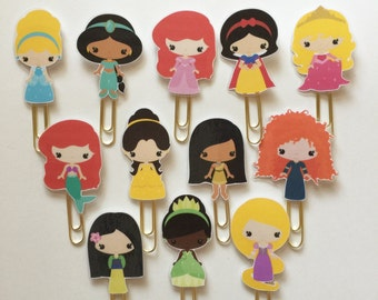 Kawaii Princess Double Sided Planner Clip - Made to Order