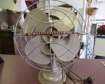 Vintage Westinghouse Desk Fan 1940's