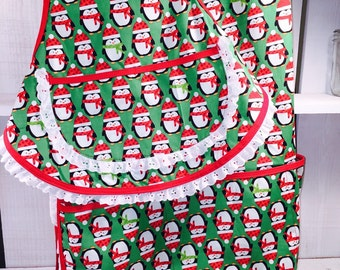 Adorable Mommy and Me Holiday Apron Set