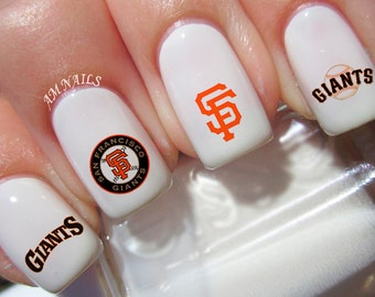 San Francisco Giants Nail Decals