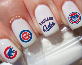 Chicago Cubs Nail Decals