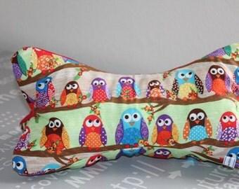 Read bone, neck pillow, bookends, OWL