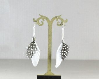 Earrings feather PINTI