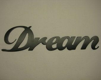 Dream Metal Wall Word
