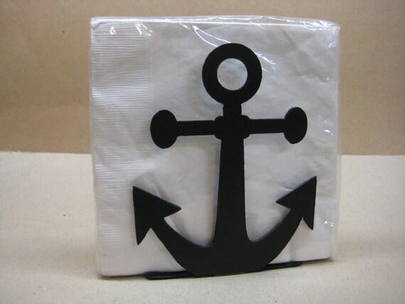 Anchor napkin holder letter holder nautical decor - Coastal napkin holder ...