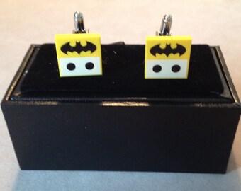 Batman themed lego tile cufflinks