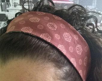 D20 Fabric Doublesided Headband D&D