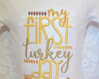 First Thanksgiving Shirt, Turkey Shirt, Personalized Thanksgiving, Fall Shirt, Turkey, Im only here for the Turley, funny Turkey shirt, boys