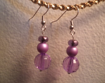 Earrings 122 Grape Koolaid