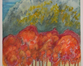 Autumn Colours-Giclee print of Original Watercolor painting