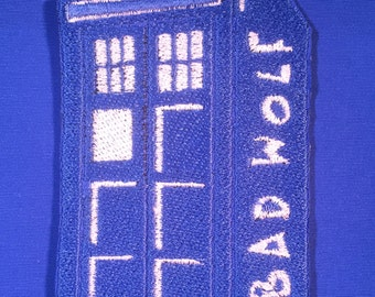 Dr Who and His Tardis - Bad Wolf Patch