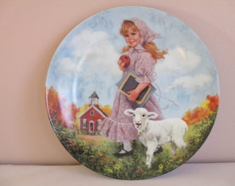 Mary Had A Little Lamb Decorative Plate Mother Goose Series by John McClelland