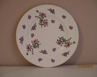 Royal Victoria Purple Floral Plate