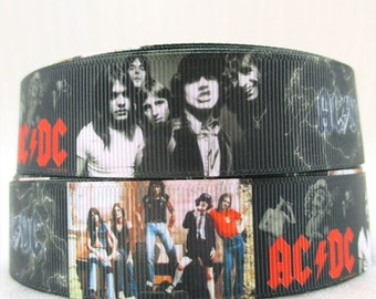 AC DC 1 inch Ribbon by the yard