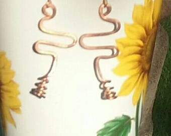 IamELEGANCE Copper Wire Earrings
