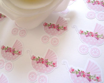Baby Shower Girl Envelope Seal stickers for invitations/favours/candy bags 35 pcs - Free shipping !