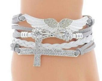 Angel/Cross bracelet