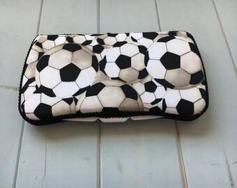 Soccer, Wipe Case, Wipes Case, Wipes Holder, Baby Wipe Case, Travel Wipe Case, Baby Wipes Case, Diaper Bag, Baby Gift, Babyshower