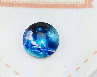 5xMermaid Glass dome cabochons~12mm~ for Decoden/jewelry/crafts~ 5 pieces