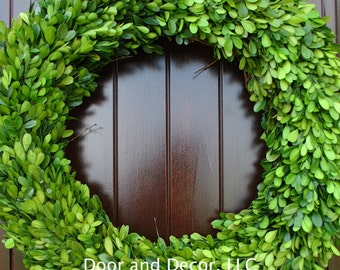 Preserved Boxwood Wreath~ALL SIZES~Spring Wreath-Front door wreaths~Wedding Wreath-Preserved Boxwood-Front Door Wreath-Boxwood~Winter wreath