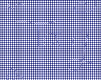 Saphire Blue Gingham Cardstock