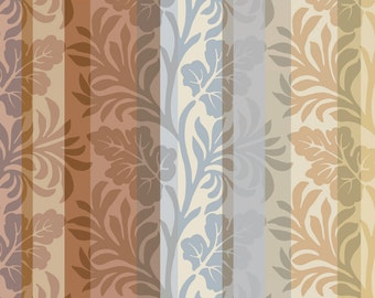 STRIPLEAVES/digitally printed wall paper roll