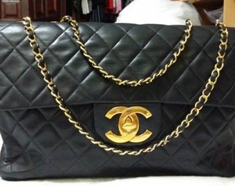 Vintage Lambskin MAXI classic with GHW