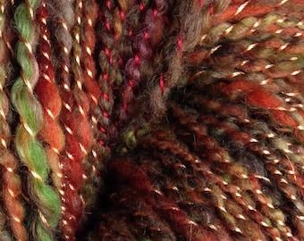 Hand Spun October Art Yarn