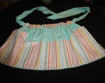 Cheerful striped apron