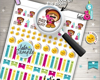 60%OFF - Payday Stickers, Printable Planner Stickers, Pay day Stickers, Money, Kawaii Stickers, Planner Accessories, Cute Stickers