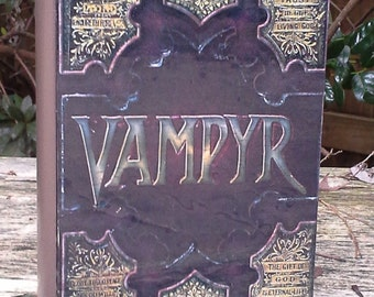 "Buffy ""Vampyr""  book- Wood stash box"