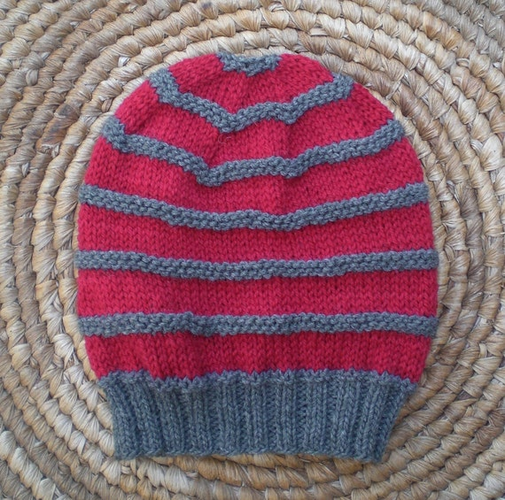 Knit Beanie Pattern Worsted Weight : Slouchy knit beanie pattern for men and women - easy ...