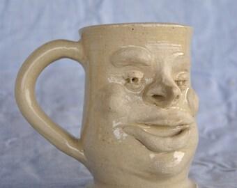 Ceramic Face Cup, North Carolina Stoneware Mug