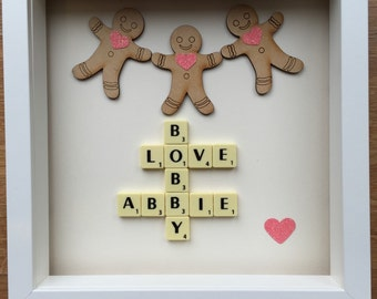 Scrabble art picture frame
