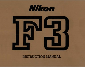 Nikon F3 F-3 SLR Camera User Instruction Manual