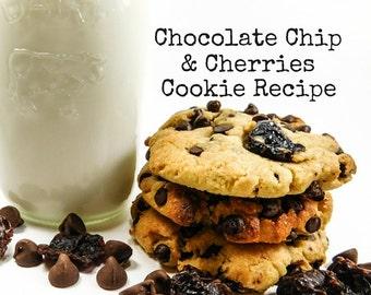 99 Cent Recipe, Gluten Free Chocolate Chip Cookies with Cherries- Sunshine's Gluten Free Flour- Homemade Gluten Free Cookies