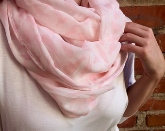 "Blush Pink ""Pretty Bird"" Sheer Infinity Scarf"