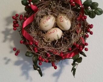 Christmas Bird Nest