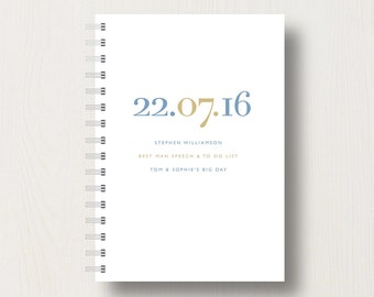 Personalised Best Man's Planner or Journal