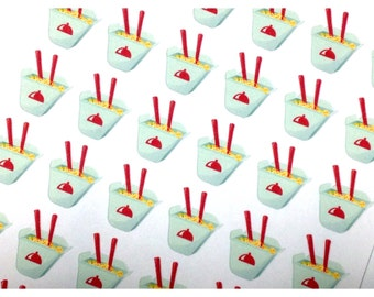 36 Chinese Food Stickers | 51