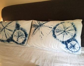 Shibori pillowcases - pair - pure cotton