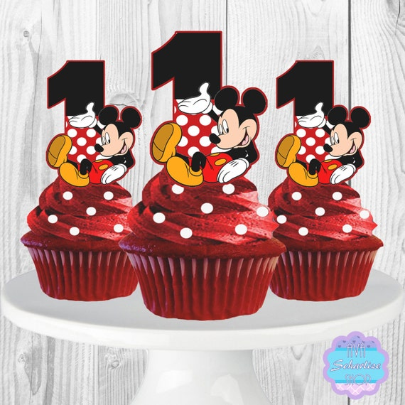 PRINTABLE Mickey Mouse Cupcake Toppers Cupcake Picks 1stMickey Mouse Cupcake Toppers