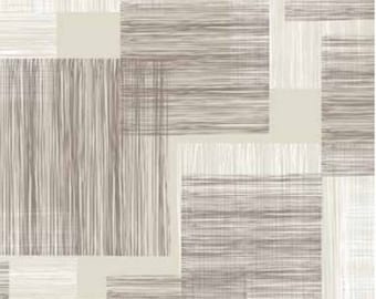 Oilcloth table cloth by the metre stripes beige grey C144471