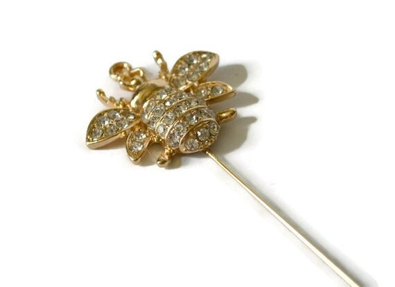 gold hat pin handcrafted pins scarf pins hat by