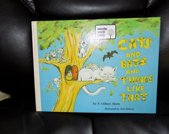 Vintage Wonder World Book Cats and Bats and Things Like That  V. Gilbert Beers 1973 EUC