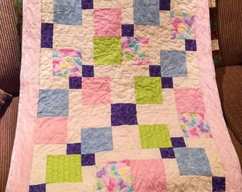 Butterfly Kisses Baby Quilt